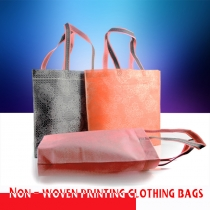 5 pcs 42x32cm Wholesale Eco-friendly Non Woven Clothing Packaging Shopping Bags with Handle