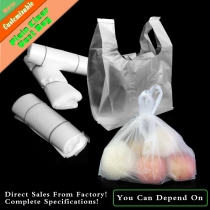 50 Pcs 0.03 / 0.05mm Clear PE Plastic Vest Shopping Bags for Vegetables Supermarket Retailing Bags