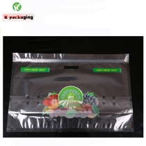 5 Pcs 42x28cm Supplier Food Grade Printing Stand up Zip Lock Orange Bags Banana Grape Bags Fruit Packaging Air Hole