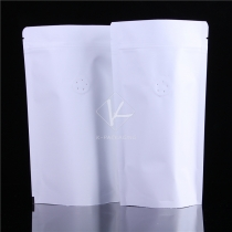 5 pcs Moisture Proof Mat Finish Aluminum Foil Standing Zipper Kraft White Paper Bag Coffee Valve