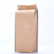 5 pcs 9x22cm 100g 4-side Seal Kraft Paper Reusable Tea Bags Foil Food Packaging Bags Supplier
