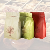 5 pcs 18x30cm Flat Bottom Foil Pet Food Packaging Brown Paper Resealable Bags for Nuts