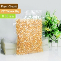 100 pcs 0.16mm A-class PET + PE Transparent Food Saver Vacuum Bags Plastic  Vacuum Pouches