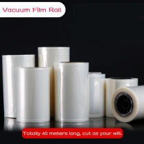 1 Roll 0.16mm Clear Vacuum Film Roll Plain Nylon Vacu Bags for Food Packaging