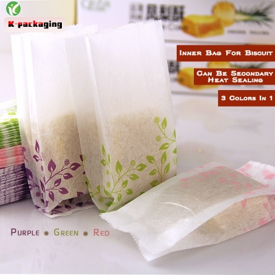 5 pcs 5x12.5cm Food Grade Small Cotton Paper Bag for Cookie Paper Food Packaging Sachet Supplies