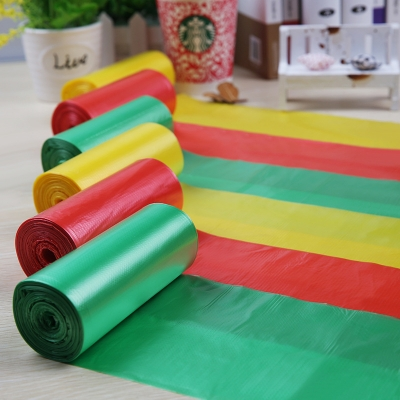1 Box= 6 Rolls 45x50cm 0.03mm Colorful Printing HDPE Garbage Bag in Roll Box Packing Rubbish Packaging Plastic Waste Bags