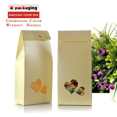5 pcs 11x23cm White Embossed Craft Box for Gift Kraft Candy Boxes with Clear Heat-shaped Window