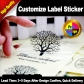 MOQ 500 pcs Customize Clear PET Label Sticker / White PVC Stickers / White Paper Sticker / Kraft Paper Adhesive Label for Bags