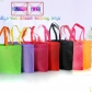 5 pcs Plaid Eco friendly Non Woven Bags for Cloth with Handle Non-woven Bag Manufacturer