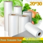 1 Roll 0.04mm Thickness Food Grade White PE Plastic Bag Roll Supermarket Shopping Bag Wholesale