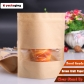 5 pcs Inkjet Printable Standing Zipper Paper Food Bags Resealable Food Packaging with Window
