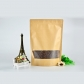 5 pcs Matt Finished Standing Ziplock Paper Food Packaging Bag Reusable Food Pouch with Window