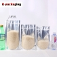 5 pcs Wholesale 0.20mm Thickness Clear Front Aluminium Food Pouch Ziplock Stand Up Pouch for Nuts