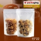 5 pcs Matt Finish Fried Food Products Packaging Bag Frosted Ziplock Doypack Supplier
